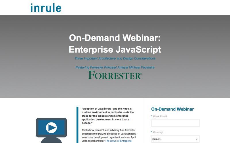 On-Demand Webinar - Enterprise JavaScript