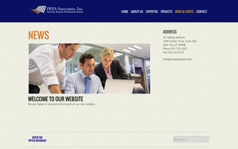 Screenshot of Press Page presassociates.com - News - captured Dec. 6, 2015