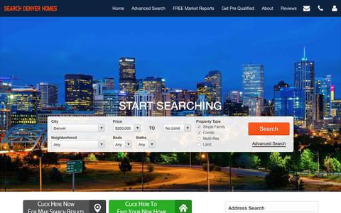 Screenshot of Home Page search-denver-homes.com - Search Denver Homes- Every Denver property for sale updated every 5 minutes! - captured July 9, 2018