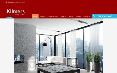 Screenshot of Home Page kilmers.co.uk - Kilmers – The Smart Move For Lettings & Management - captured Feb. 12, 2016