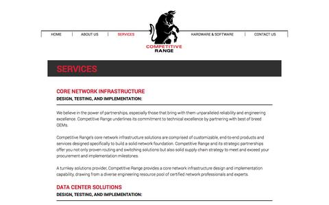 Screenshot of Services Page getcrs.com - Competitive Range | Services - captured Oct. 8, 2014