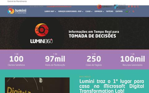 Screenshot of Home Page luminiitsolutions.com - Home • - Lumini IT Solution - captured July 22, 2018