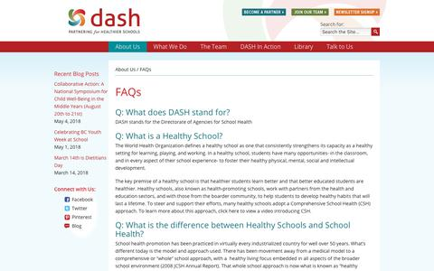 Screenshot of FAQ Page dashbc.ca - FAQs - captured Aug. 5, 2018