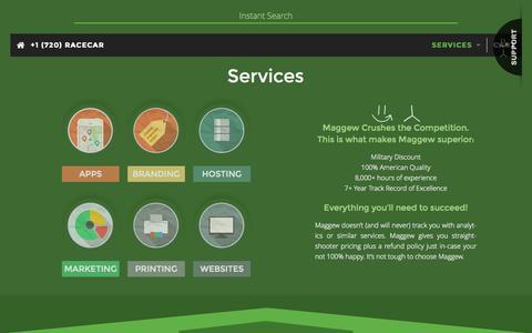 Screenshot of Services Page 214web.com - Services – 214 WEB = Love WEB - captured Nov. 2, 2014