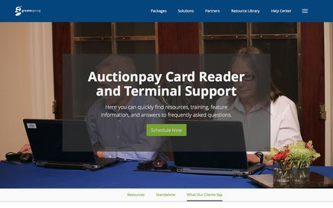 Auctionpay - Support Center | Greater Giving