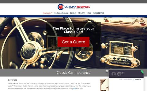 Classic Cars - Carolina Insurance