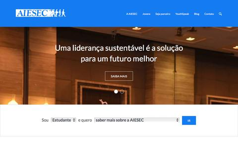 Screenshot of Home Page aiesec.org.br - AIESEC no Brasil - - captured June 22, 2017