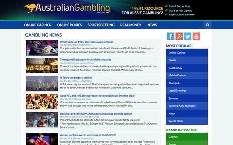 Screenshot of Press Page australiangambling.com.au - Gambling News - Australian Gambling - captured May 31, 2017