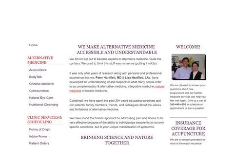 Screenshot of Home Page Blog alternative-medicine-works.com - Alternative Medicine Works. Or Does It? - captured Sept. 28, 2018