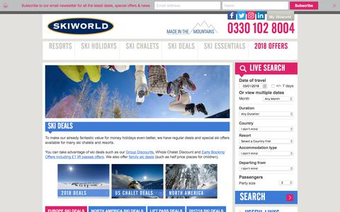 Ski Deals | Cheap Ski Chalet & Holiday Offers | Skiworld