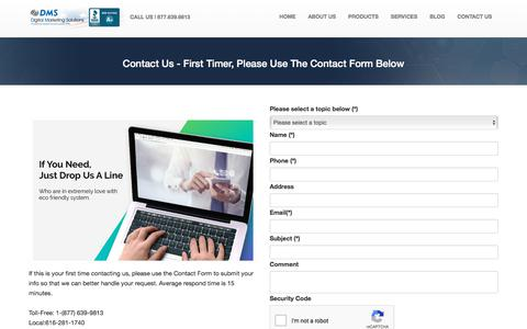 Screenshot of Contact Page digitalmarketingsolutions.com - Contact Us - Digital Marketing Solutions - captured Nov. 12, 2019