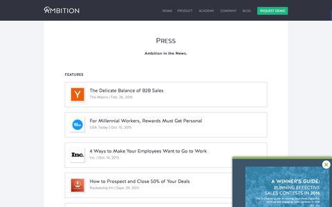 Ambition | Press