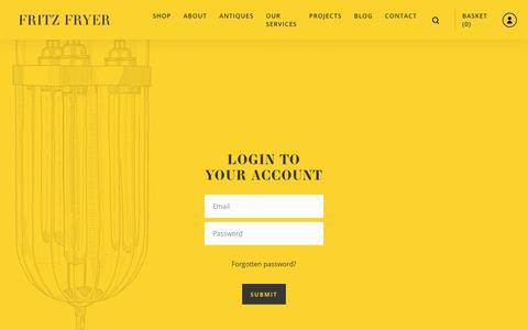Screenshot of Login Page fritzfryer.co.uk - Fritz Fryer - captured Sept. 14, 2018