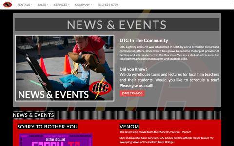 Screenshot of Press Page dtcgrip.com - DTC Grip & Electric - captured Oct. 7, 2018