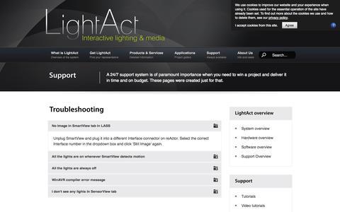 Screenshot of FAQ Page lightact-systems.com - FAQ - captured Oct. 3, 2014