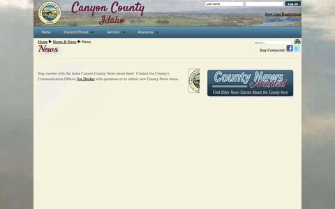 Screenshot of Press Page canyonco.org - Canyon County - County News - captured Oct. 1, 2014