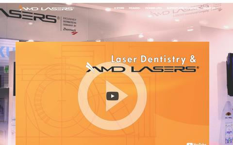 Screenshot of About Page Jobs Page Testimonials Page amdlasers.com - About AMD LASERS - captured Oct. 2, 2018