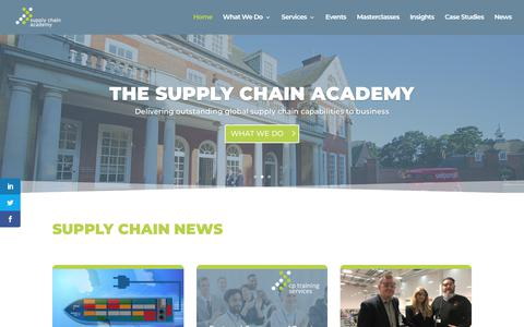 Screenshot of Home Page supplychainacademy.org.uk - Home - The Supply Chain Academy - captured Oct. 20, 2018