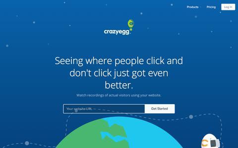 Screenshot of crazyegg.com - Website Usability Testing Session Replay   Crazy Egg User Recordings - captured Oct. 19, 2017