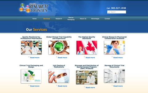 Screenshot of Services Page barl.ca - Clinical Trial Logistic Services | Clinical Research Solutions - captured Oct. 5, 2014