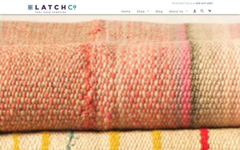 Screenshot of Home Page latchcompany.com - Socially Responsible Shopping | Humanitarian Causes | LatchCo - captured Dec. 15, 2015