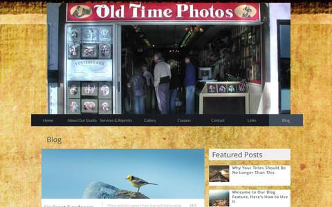 Screenshot of Blog oldtimephotosrehoboth.com - Blog - captured April 9, 2016