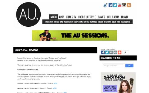 Screenshot of Signup Page theaureview.com - Join the AU review! | the AU review - captured Sept. 24, 2014
