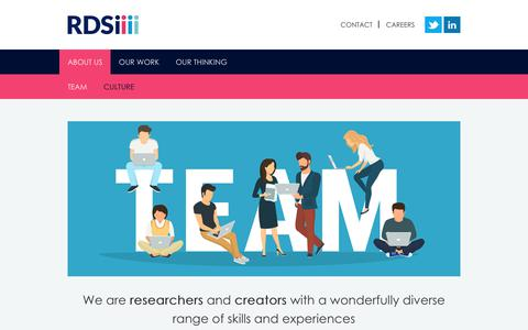 Screenshot of Team Page rdsiresearch.com - Team - RDSi - captured Oct. 23, 2017