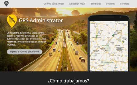 Screenshot of Home Page gpsadministrator.com - GPS - captured Dec. 6, 2015