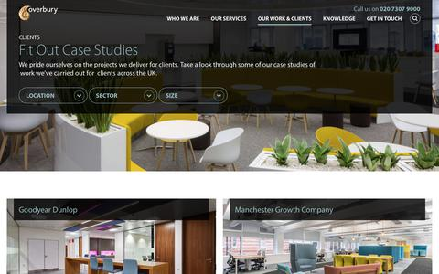 Screenshot of Case Studies Page overbury.com - Office Fit Out Case Studies | Overbury - captured Oct. 22, 2017