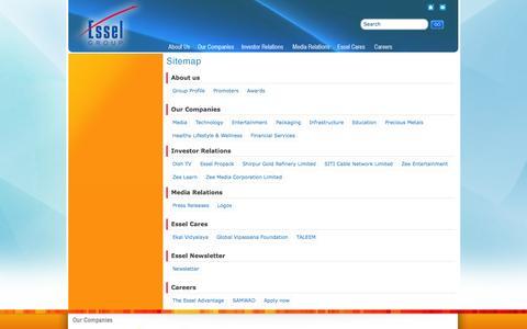 Screenshot of Site Map Page esselgroup.com - Esselgroup - - captured Sept. 22, 2014