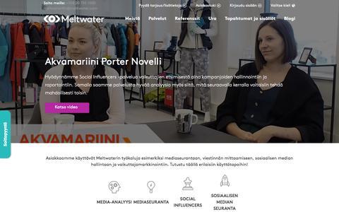 Screenshot of Case Studies Page meltwater.com - Meltwaterin asiakkaat   Yli 1700 tyytyväistä asiakasta Suomessa - captured Jan. 10, 2020