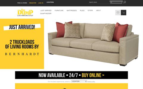 Screenshot of Home Page thedump.com - The Dump Luxe Furniture Outlet - captured Sept. 20, 2018