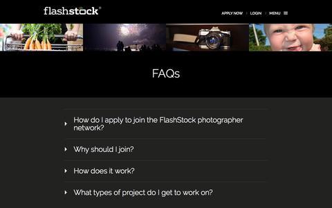 Screenshot of FAQ Page flashstock.com - FlashStock - captured Oct. 29, 2014