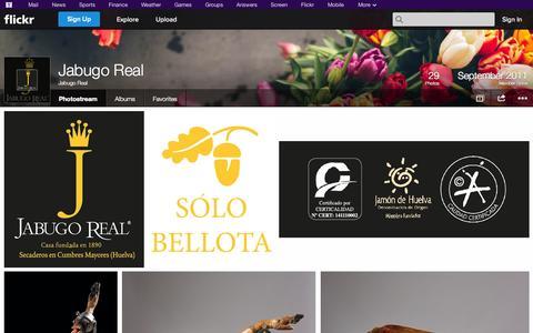 Screenshot of Flickr Page flickr.com - Flickr: Jabugo Real's Photostream - captured Oct. 23, 2014
