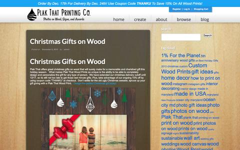 Screenshot of Blog plakthat.com - Blog - Plak That Custom Wood Prints - captured Dec. 9, 2015