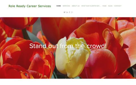 Screenshot of Home Page roleready.com.au - Role Ready Career Services - captured Feb. 15, 2016