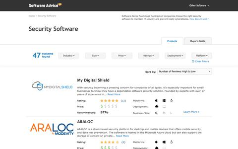 Best Security Software - 2017 Reviews, Pricing & Demos