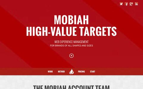 Screenshot of Team Page Pricing Page mobiah.com - Adwords, Analytics, and Conversion Rate Optimization by Mobiah, Inc. - captured Oct. 26, 2014