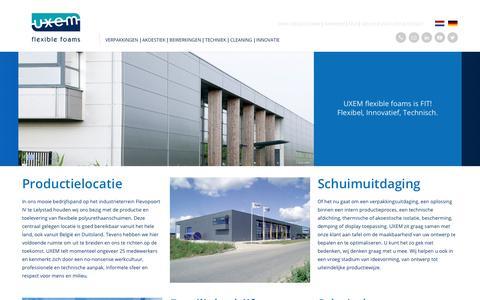 Screenshot of Team Page uxem.com - Over UXEM - UXEM Flexible Foams BV - captured July 5, 2017