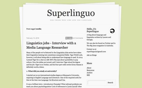 Screenshot of Press Page superlinguo.com - Superlinguo - captured May 5, 2016