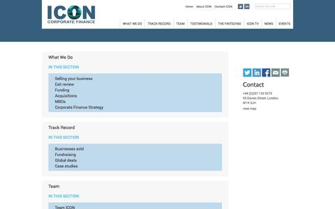 Screenshot of Site Map Page iconcorpfin.co.uk - ICON | Site Map - captured Oct. 27, 2014