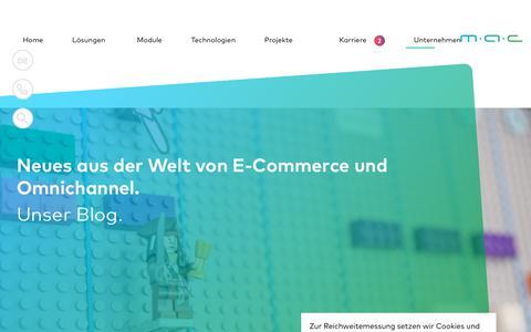 Screenshot of Blog mac-its.com - MAC Blog : E-Commerce & Omnichannel : MAC IT-Solutions - captured Oct. 1, 2018