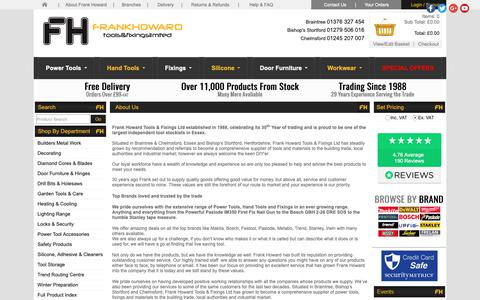 Screenshot of About Page frankhoward.com - Power Tools, Hand Tools, Fixings UK | About Frank Howard - captured Oct. 11, 2018