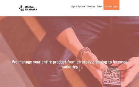 Screenshot of Home Page digitaldanmark.dk - Digital Danmark - captured Aug. 2, 2016