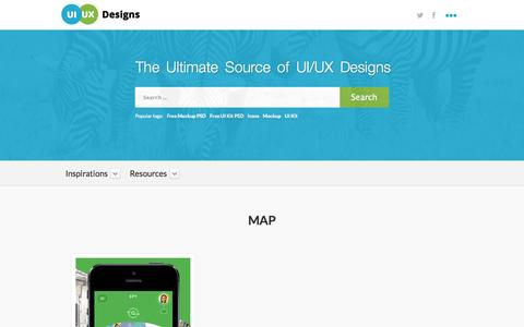 Screenshot of Maps & Directions Page uiuxdesigns.com - Map Archives - UI/UX Designs » A Complete User Interface Design Source - captured Nov. 2, 2014