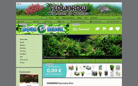 Screenshot of Home Page flowgrow.de - Portal - Aquascaping - Aquarium - Wasserpflanzen - Flowgrow - captured Sept. 24, 2014
