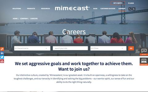 Careers and Job Openings | Mimecast