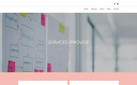Screenshot of Services Page kaitlinsalleymarketing.com - Services  | Kaitlin Salley Marketing - captured July 8, 2018