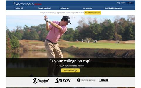 Screenshot of Home Page Menu Page nextgengolf.org - nextgengolf | Get in the game - captured Oct. 8, 2014